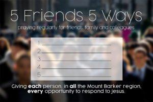 5 Friends 5 Ways Prayer Postcard Front
