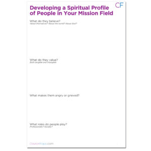 Developing a Spiritual Profile Worksheet