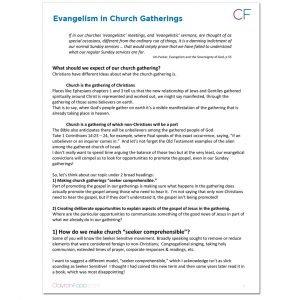 Evangelism in Church Gatherings